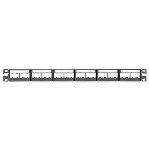 PATCH PANEL 24 PORT FLAT C/W 6XCFFPL4