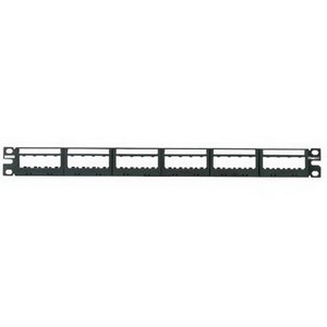 PATCH PANEL  24 PORT  ULTIMATE ID  BLACK