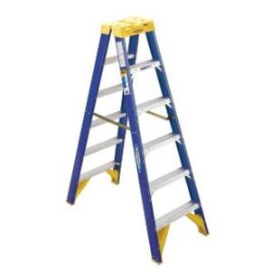1.8M D/SIDED F/GLASS LADDER